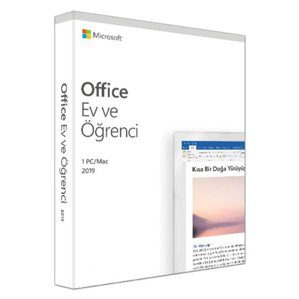 MS OFFICE 2019 HOME AND STUDENT TURKCE KUTU 79G-05069