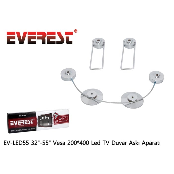 Everest EV-LED55 32-55 Vesa 200*400 Led TV Duvar Askı Aparatı