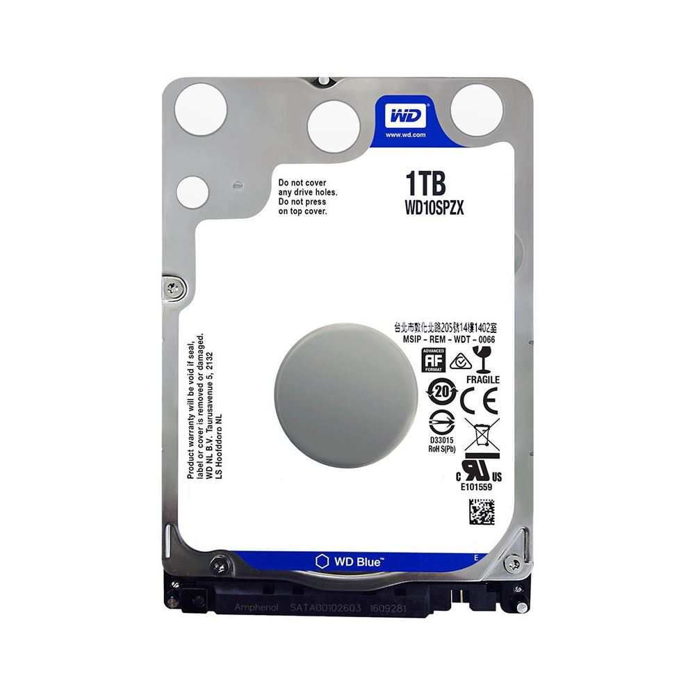 "WD 1TB 2.5"" 5400RPM 128MB SATA3 NOTEBOOK DİSKİ BLUE WD10SPZX 7mm"