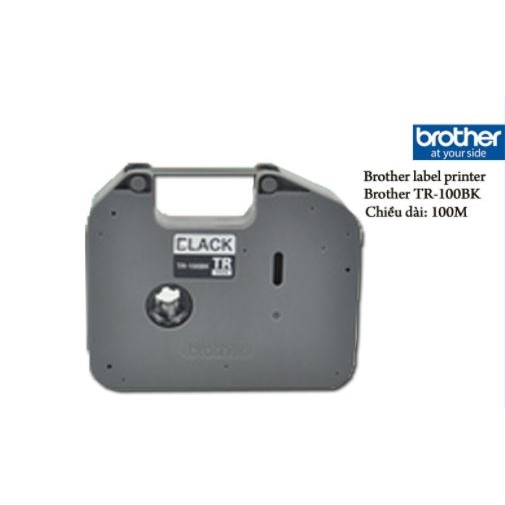 BROTHER P-TOUCH TR-100BK ETIKET 100 MT SİYAH RİBON