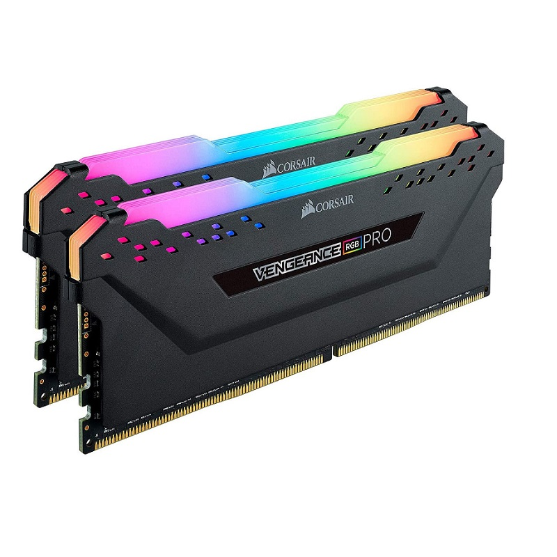 CORSAIR 16GB (2X8GB) DDR4 3200MHZ CL16 DUAL KIT PC RAM VENGEANCE RGB PRO CMW16GX4M2C3200C16