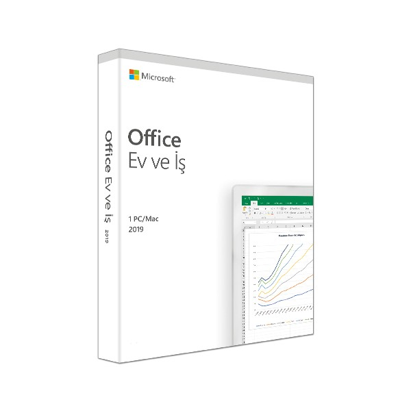 MS OFFICE 2019 HOME AND BUSINESS TURKCE KUTU T5D-03258