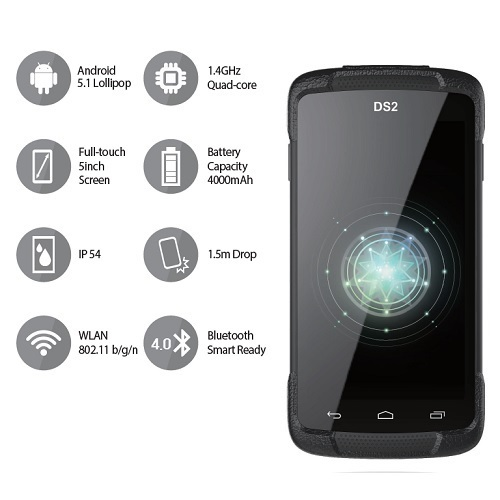 DSIC 5 DS2 QC 1.4ghz Wlan Android 5.1 PDA El Terminali