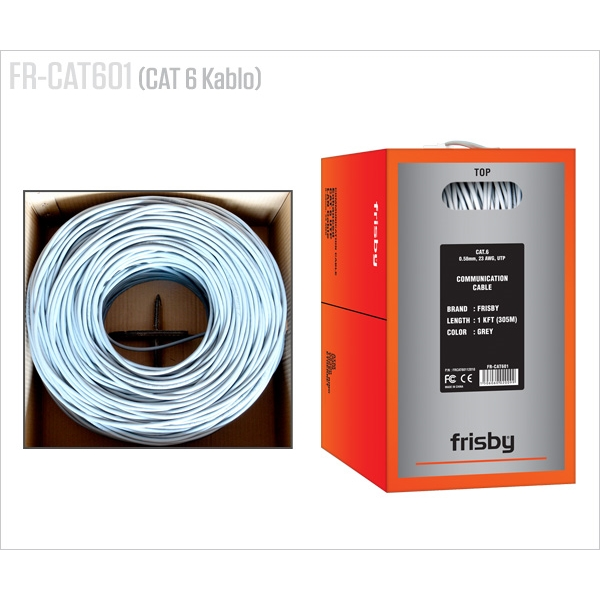 FRISBY CAT6 Utp 23AWG 305m Kablo CAT601