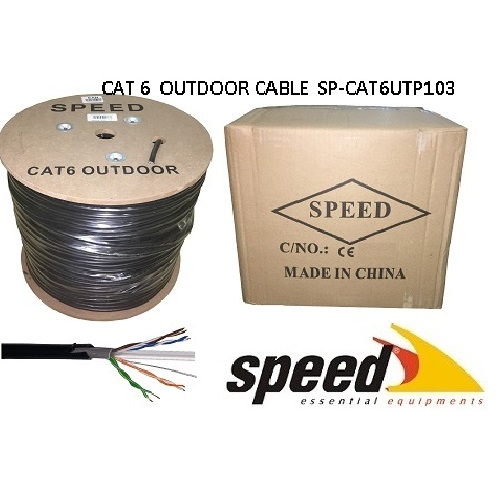 SPEED CAT6 Utp 23AWG 305m Outdoor CCA Kablo (Double PVC+PE Outdoor Jacket) SP-CAT6UTP103