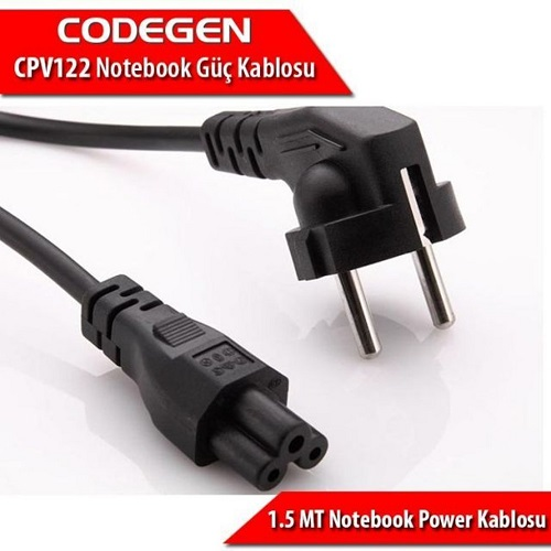 CODEGEN CPV122 3x0.75mm 1.5metre Notebook Power Kablosu