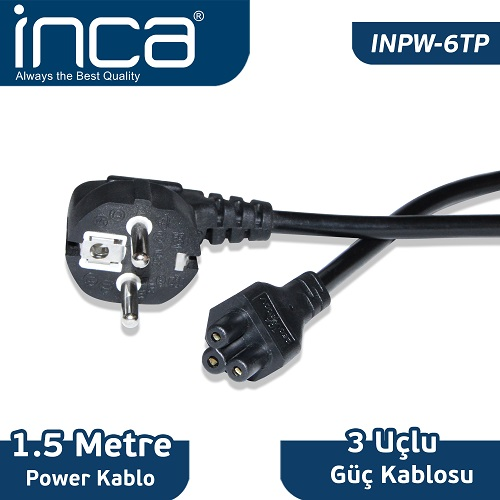 INCA INPW-6TP 0.75mm 1.5 metre Notebook Power Kablosu