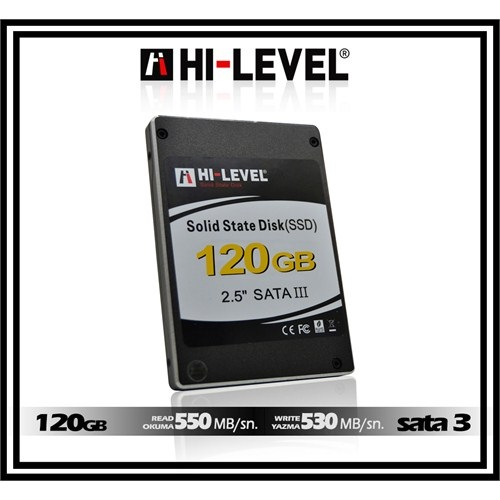 HI-LEVEL 120GB HLV-SSD30ULT/120G 550- 530MB/s SSD SATA-3 Disk