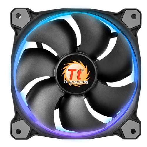 THERMALTAKE 120mm Riing 12 LED CL-F042-PL12SW-A 3pin Siyah KASA FANI