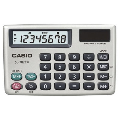 CASIO SL-787TV-GD (PH) 8 HANE CEP HESAP MAKİNESİ
