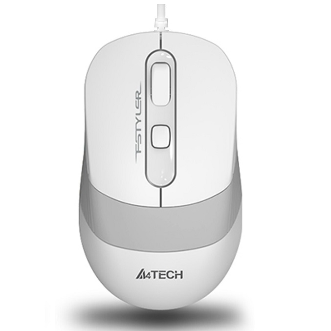A4 TECH FM10 USB 1600dpi Optic Beyaz/Gri Mouse