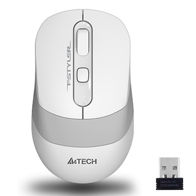 A4 TECH FG10 Kablosuz 2000dpi Optic Beyaz Mouse