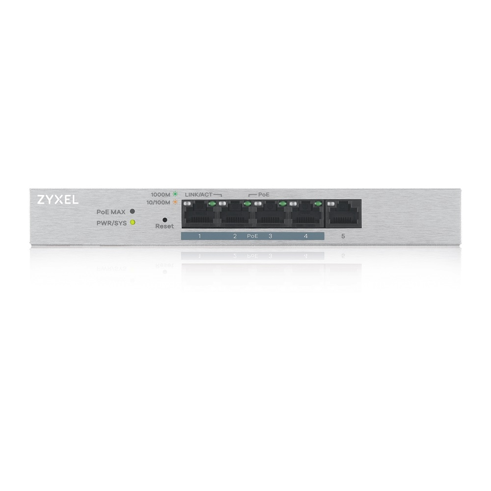 ZyXEL 5port 60w FULL PoE GS1200-5HP GIGABIT Yönetilebilir Switch Desktop