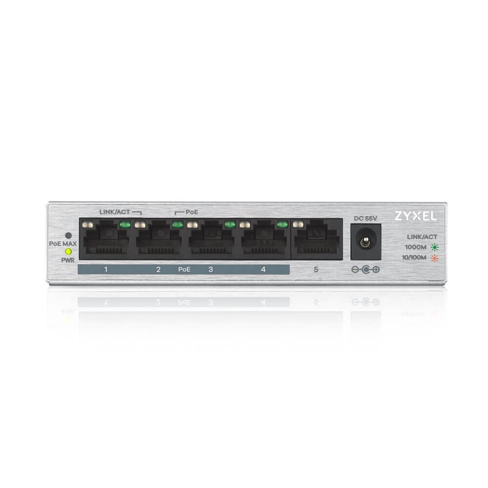 ZyXEL 5port 60w 4port PoE GS-1005HP GIGABIT Yönetilemez Switch Desktop