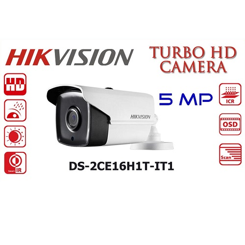 HIKVISION DS-2CE16H1T-IT1 5MP BULLET 3.6MM 20metre HDTVI Kamera