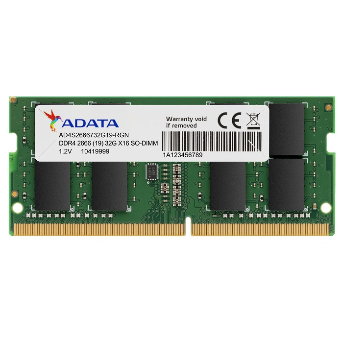 ADATA 4GB DDR4 2666MHZ CL19 NOTEBOOK RAM PREMIER AD4S2666J4G19-S