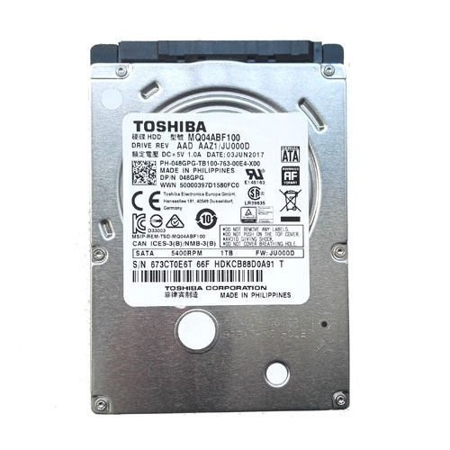 TOSHIBA 2,5 1tb L200 MQ04ABF100 5400rpm 128mb Sata III Notebook Harddisk 7mm Slim Pull Out