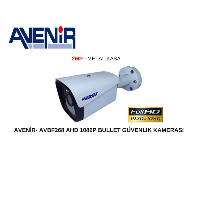 AVENiR AV-BF268 2MP BULLET 3.6MM 40metre 4in1 Güvenlik Kamerası