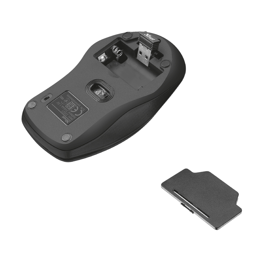 TRUST Ziva Kablosuz Q Trk Optic Mouse Siyah Multimedya Klavye - Mouse Set 22118