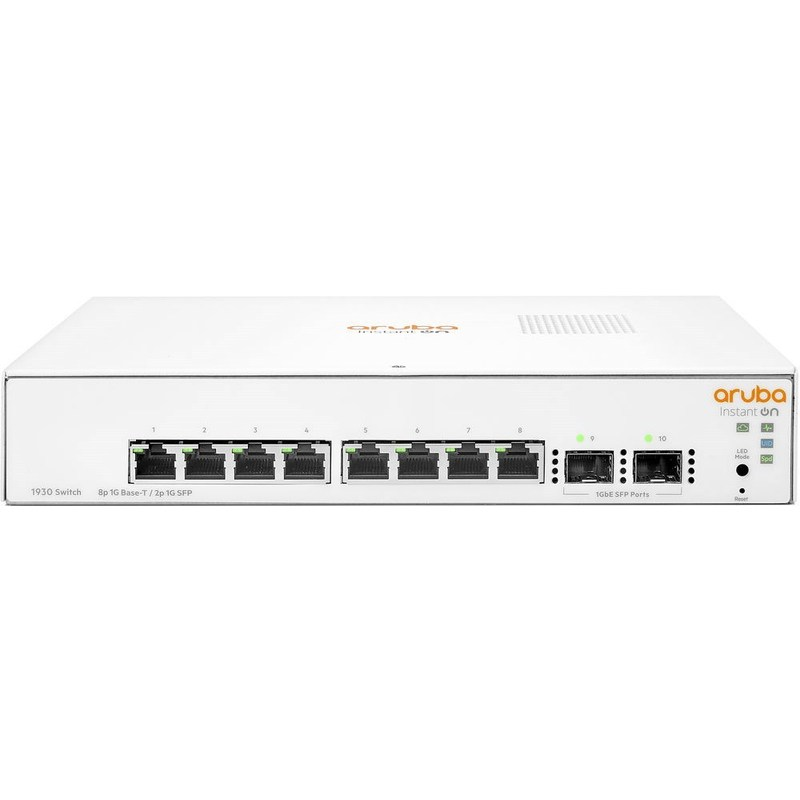 ARUBA 8port Instant On 1930 8G JL680A GIGABIT 2X SFP Yönetilebilir Switch Masaüstü