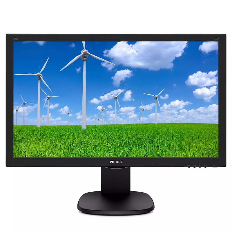 PHILIPS 23.8 LED 243S5LHMB-00 1MS 60Hz HDMI Pivot EV Ofis Tipi Monitör 1920 X 1080