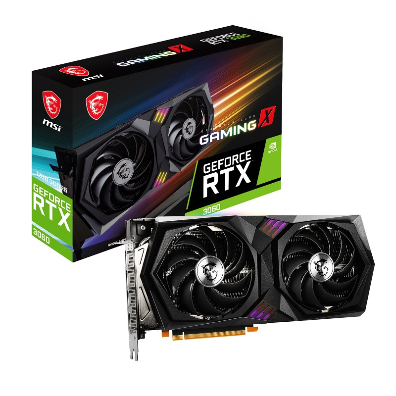 MSI RTX3060 12GB GAMING X 12G GDDR6 192bit HDMI DP PCIe 16X v4.0